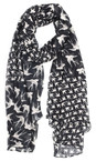 Sandwich Clothing Almost Black Woven Swallow Print Scarf