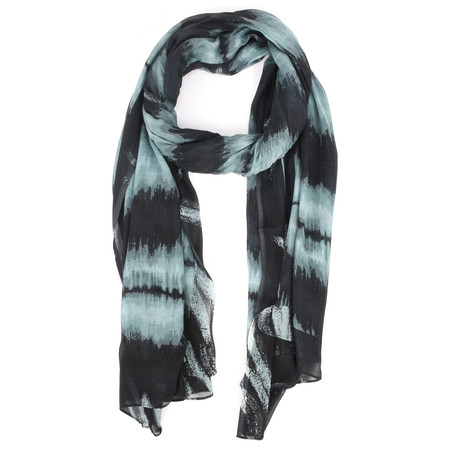Sandwich Clothing Abstract Woven Tie Dye Scarf  - Black