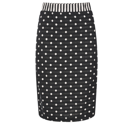 Sandwich Clothing Dot Jersey Skirt - Black