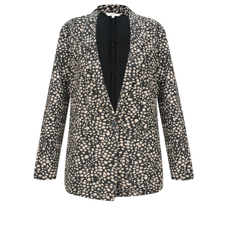 Sandwich Clothing French Terry Cheetah Blazer - Black
