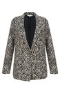 Sandwich Clothing Almost Black French Terry Cheetah Blazer
