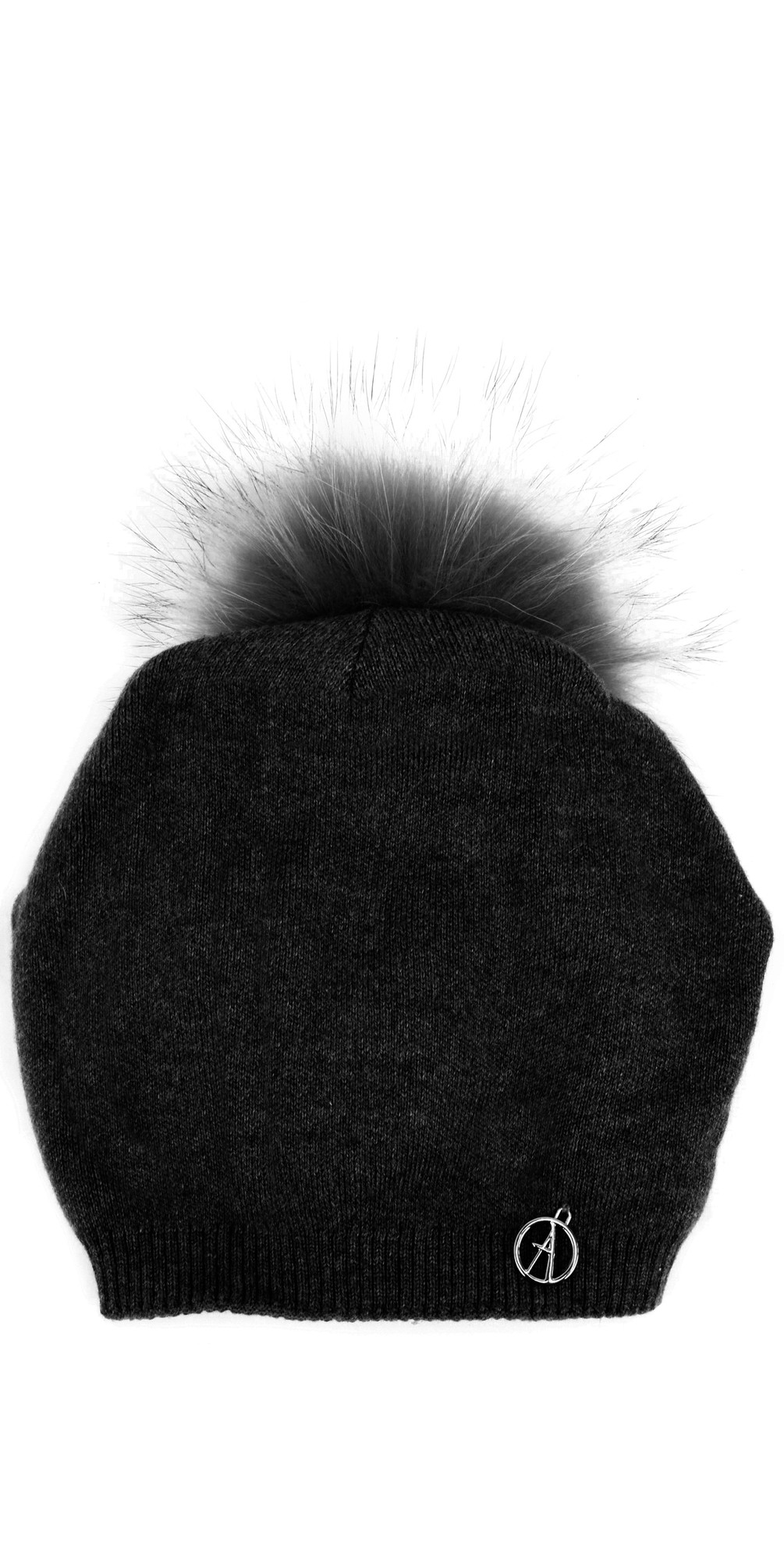 Sienna Slouch Beanie With Pom main image