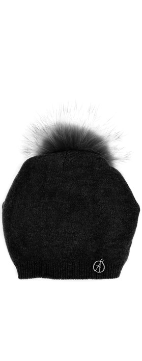 Bitz of Glitz Sienna Slouch Beanie With Pom Black