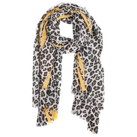 Gemini Label  Leni Leopard Scarf - Yellow