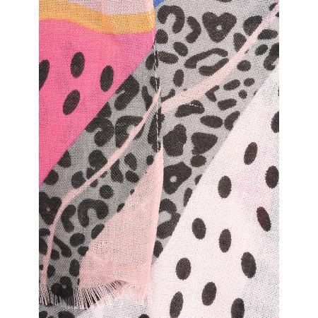 Butterfly Hudie Hatti Hot Leopard Scarf - Grey