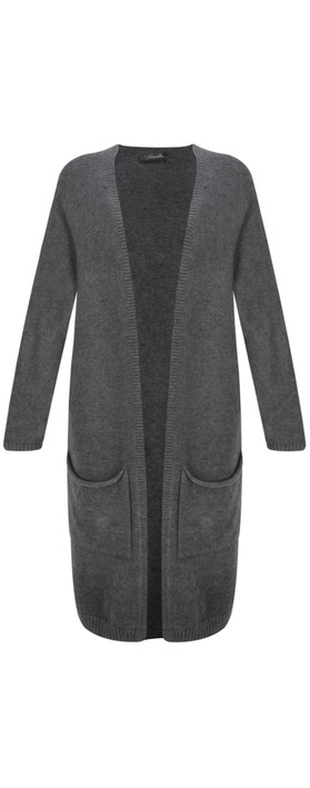 Fenella  Carrie Easyfit Supersoft Long Cardi Charcoal