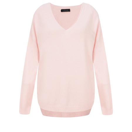 Fenella  Emmie EasyFit V-neck Knit Jumper - Pink