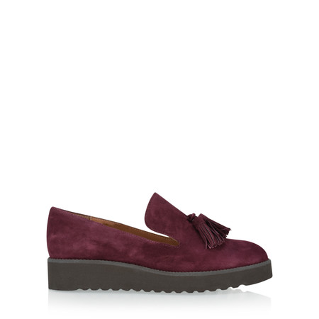 Gemini By Carmen Saiz Monica Tassel Modern Loafer - Red