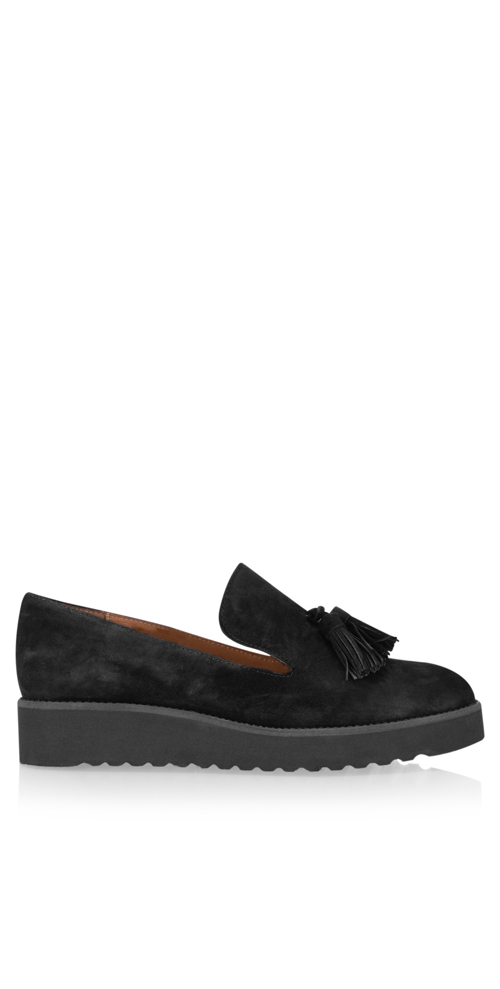 00d36c45c47 Gemini By Carmen Saiz Monica Tassel Modern Loafer in Black