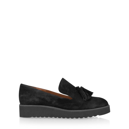 Gemini By Carmen Saiz Monica Tassel Modern Loafer - Black