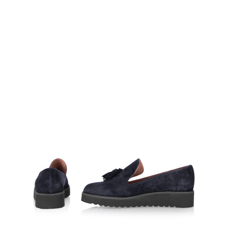 Gemini By Carmen Saiz Monica Tassel Modern Loafer - Blue