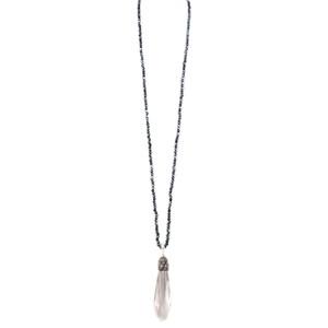 Eliza Gracious Brea Long Crystal Pendant Necklace