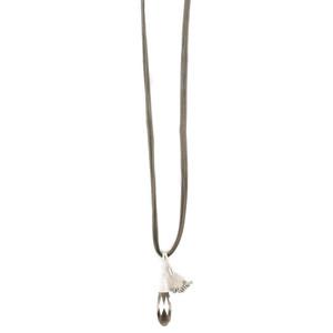 Eliza Gracious Bella Crystal Suede Necklace