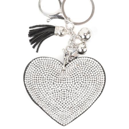 Eliza Gracious Hattie Crystal Embellished Bag Charm - Metallic