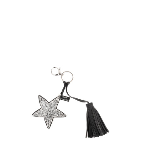 Eliza Gracious Tia Crystal Star Tassle Bag Charm - Metallic