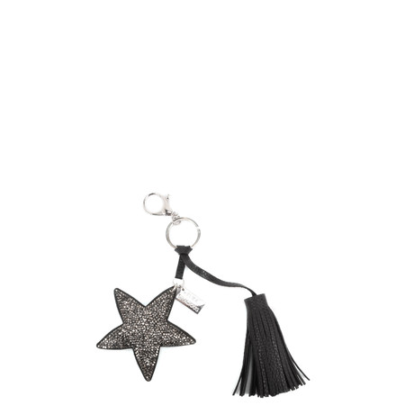 Eliza Gracious Tia Crystal Star Tassle Bag Charm - Black
