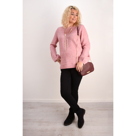 Sandwich Clothing Bell Sleeve Wool Knit Jumper - Pink
