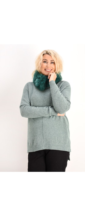 Fenella  Marty Easyfit Supersoft Knit Jumper Forest Green