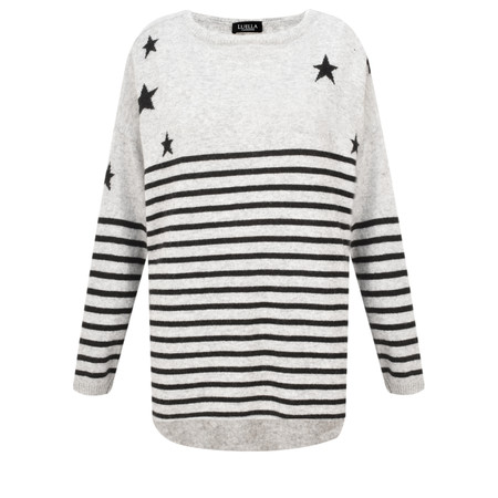 Luella Cashmere Star Stripe Easyfit Jumper - Blue