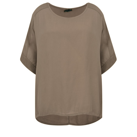 Aisling Dreams Leni Crepe Relaxed Top - Brown