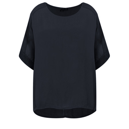 Aisling Dreams Leni Crepe Relaxed Top - Blue