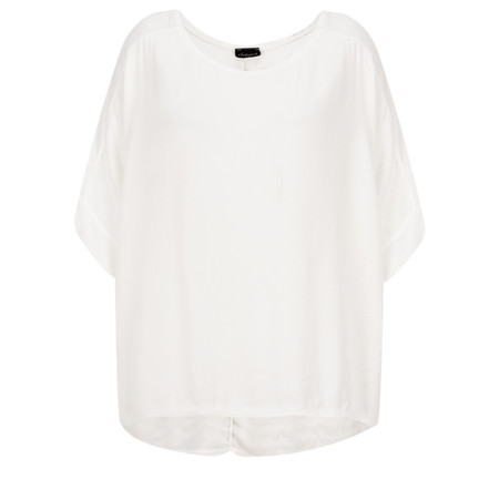 Aisling Dreams Leni Crepe Relaxed Top - Off-White
