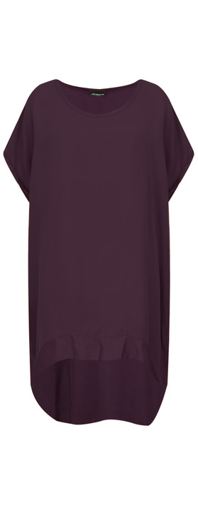 Aisling Dreams Lisbet Satin Edge Tunic Purple