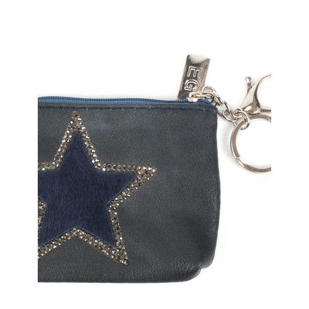 Eliza Gracious Star Crystal Embellished Purse - Blue