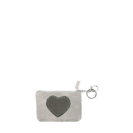 Eliza Gracious Heart Crystal Embellished Purse - Grey