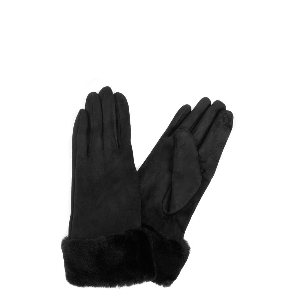 Gemini Label Accessories Nala Fur Trim Gloves Black