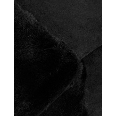 Gemini Label  Nala Fur Trimmed Gloves - Black