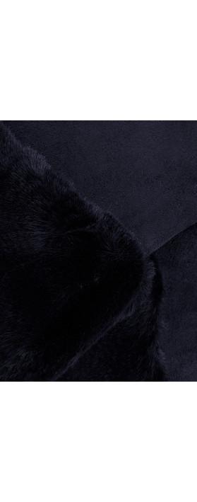 Gemini Label Accessories Nala Fur Trim Gloves Navy