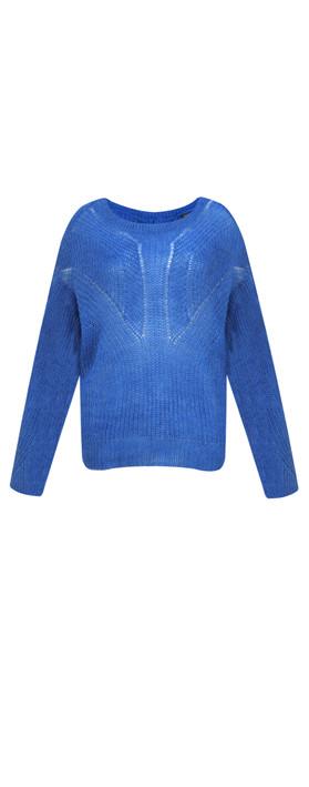 ICHI Luello Chunky Knit Jumper Nebulas Blue