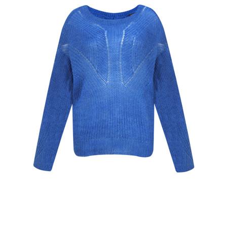 ICHI Luello Chunky Knit Jumper - Blue