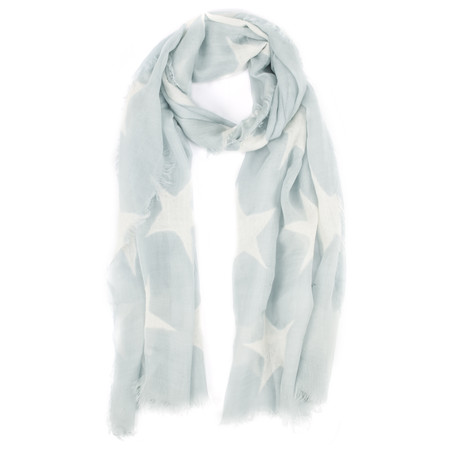 V.Fraas Stars Wool Scarf - Blue