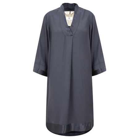Noa Noa Satin Edge Smock Dress - Grey
