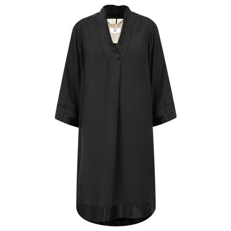 Noa Noa Satin Edge Smock Dress - Black