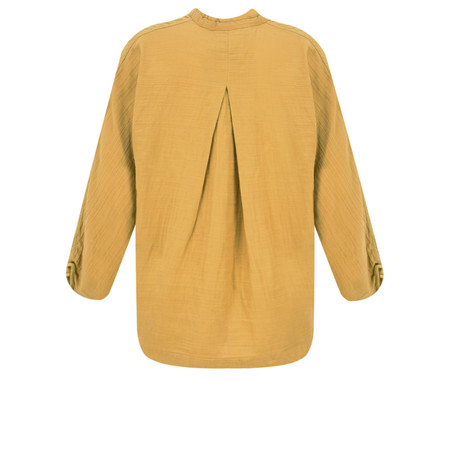 Noa Noa Cotton Smock Blouse - Yellow
