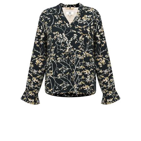 Noa Noa Long Sleeve Floral Blouse - Black
