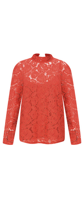 Great Plains Joni Lace Top Soft Amber