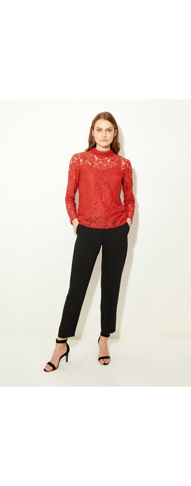 Great Plains Joni Lace Top Black