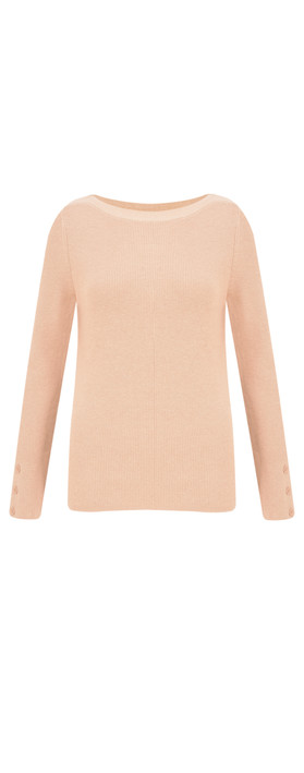 Great Plains Rib Knit Slash Neck Jumper  Soft Camel