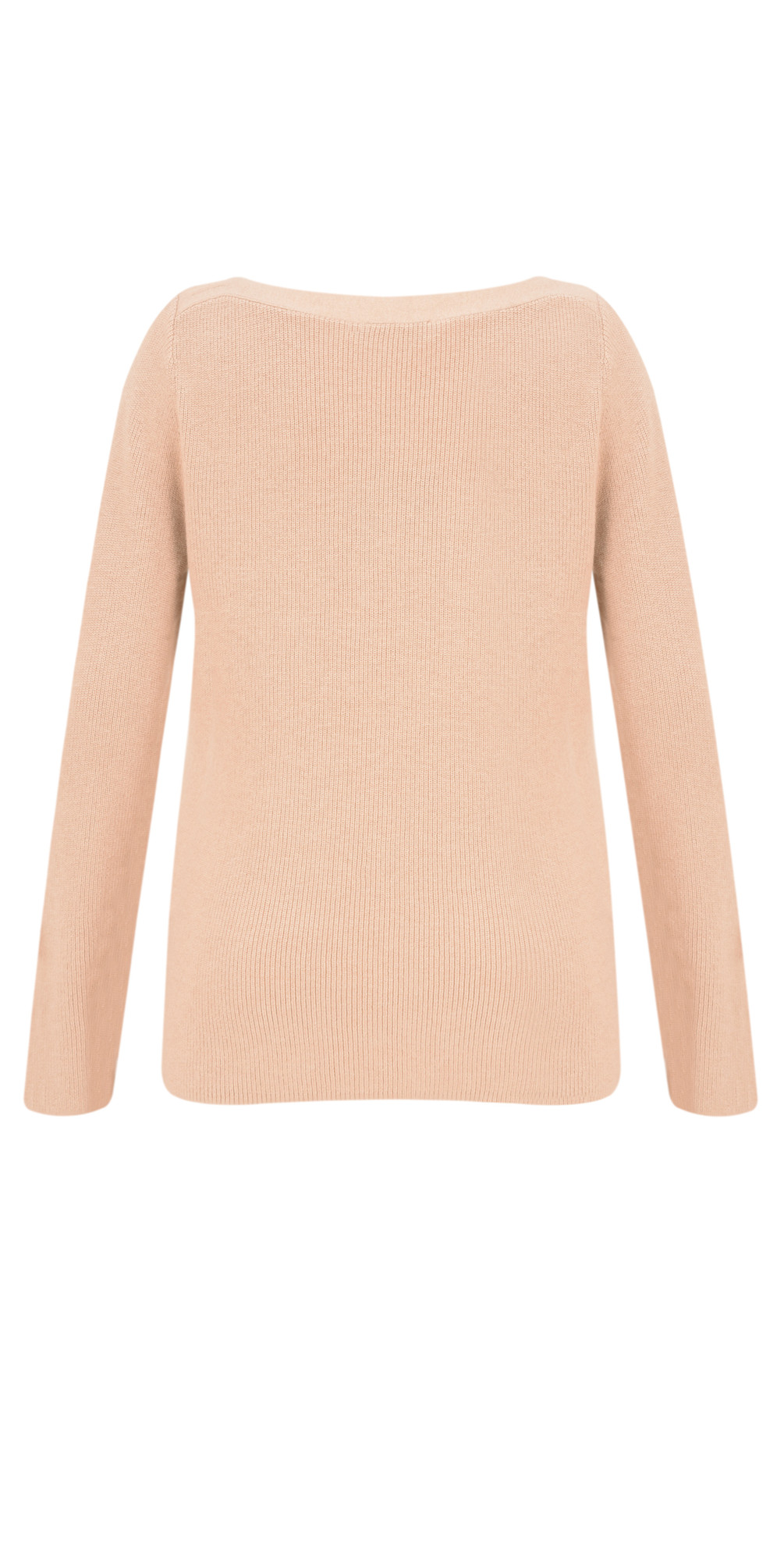 Rib Knit Slash Neck Jumper  main image