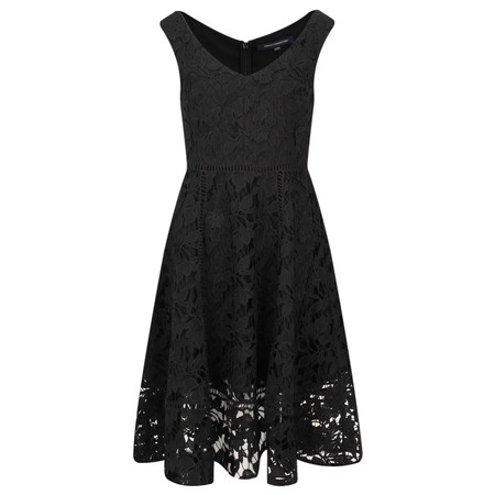 French Connection Blossom Lace Bardot Dress - Black