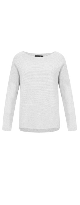 Fenella  Janey Rib Easyfit Jumper Light Grey