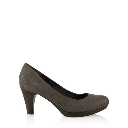 Marco Tozzi Imit Suede Shoe - Red
