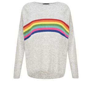 Luella Davina Cashmere Blend Rainbow Stripe Jumper