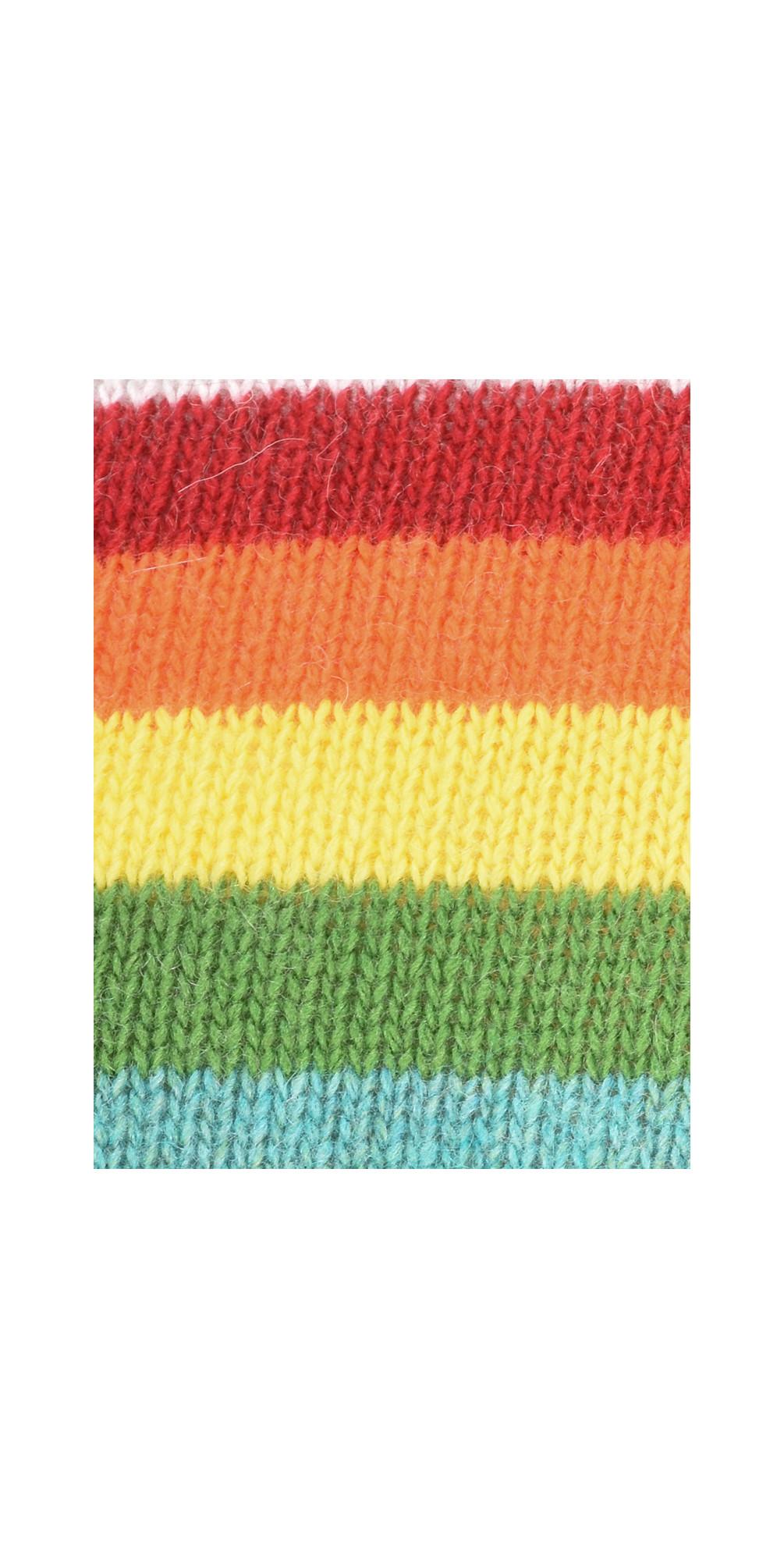 Davina Cashmere Blend Rainbow Stripe Jumper main image