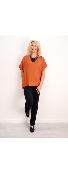 Robell Trousers Marie Stretch Cotton Velvet Slim Full Length Trouser Navy