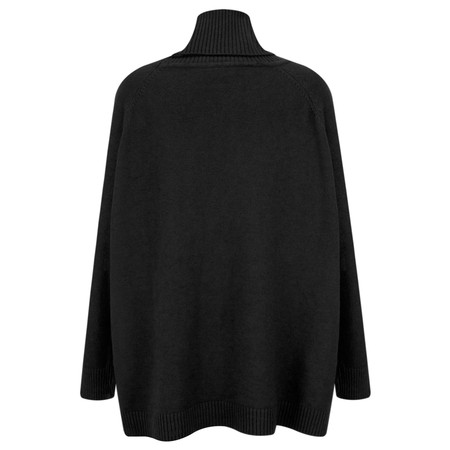 Amazing Woman Anna Easy Fit Roll Neck Jumper  - Black